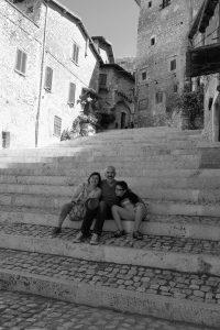 Fabio, Franca e Francesco a Sermoneta