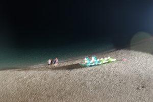 la spiaggetta di tropea di sera