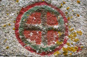 simbolo templare in una chiesa romani