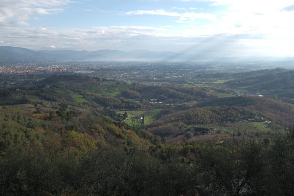Panorama su Pistoia, Prato e Firenze, Fujifilm X100T