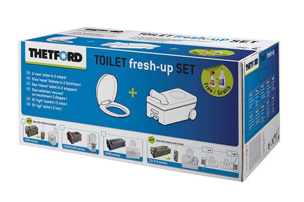 Per acquistare la confezione Fresh up set per wc Thetford c200 cfai clik su questa immagine