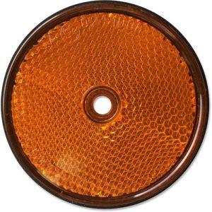 Catadiottro Tondo Diametro 61 Mm Arancio