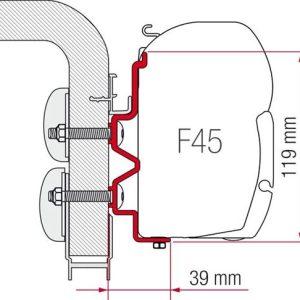 Adapter Montaggio Verande Fiamma Hymercamp 4 Metri