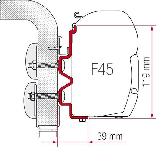 Adapter Montaggio Verande Fiamma Hymercamp 3,5 Metri