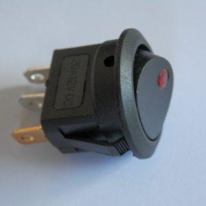 Interruttore con led a 12 volts diametro 20 mm, 4 colori disponibili