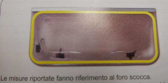Finestra universale per camper jolly 1500x550 cod. fntj204