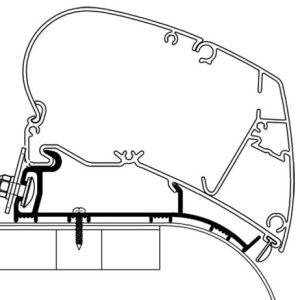 Thule Adattatore Hymer 6,0 Metri