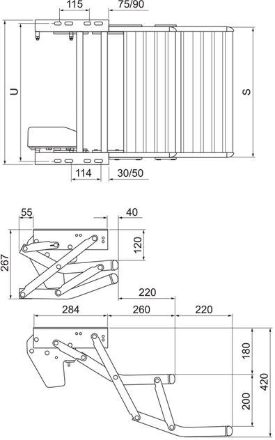 Gradino elettrico per camper doppio a 12 volts Thule step